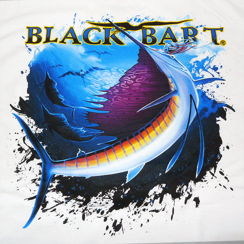 Black Bart Marlin & Sailfish Printed Fishing T-Shirts