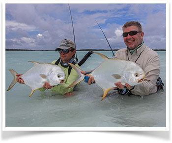 Ross and Friend with Permit Fish