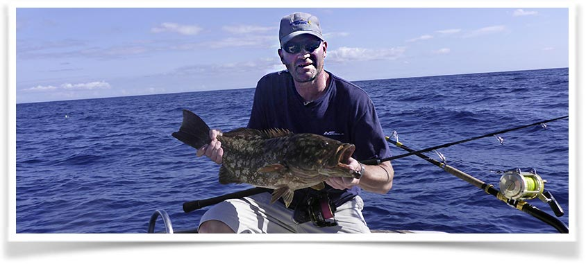 Duncan with a Grouper