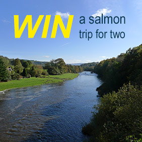 Win a Days Guided Salmon Fly Fishing for Two on a Prime River Wye Beat