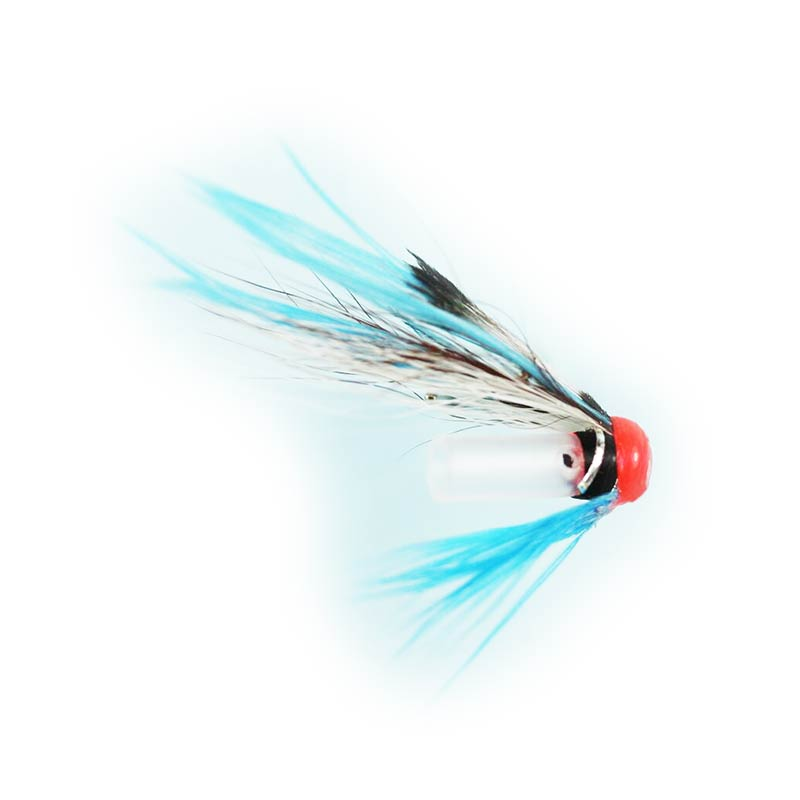 Caledonia Blue Vulture Riffle Hitch Tube Fly