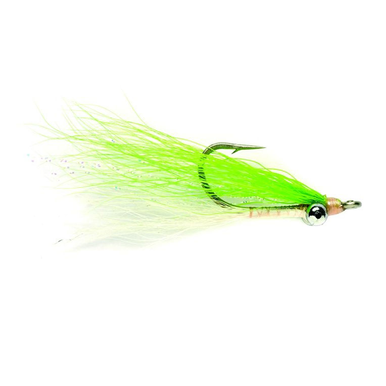 Fulling Mill Clouser Bone Chartreuse Fly