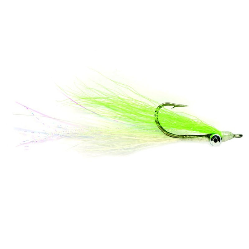 Fulling Mill Lightweight Clouser Chartreuse & White Fly