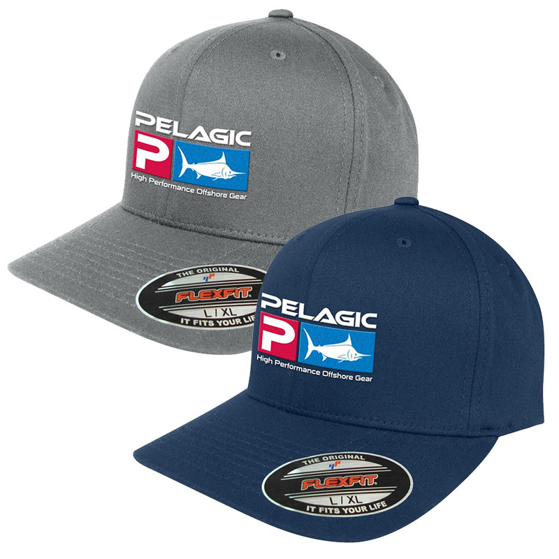 Pelagic Deluxe Logo Flexfit Fishing Cap / Hat