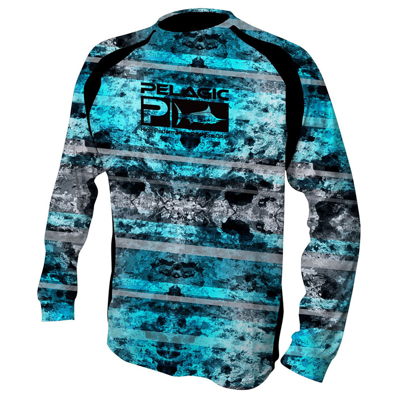 Pelagic vaportek long sleeve fishing sunshirt rok max for Fishing t shirts brands