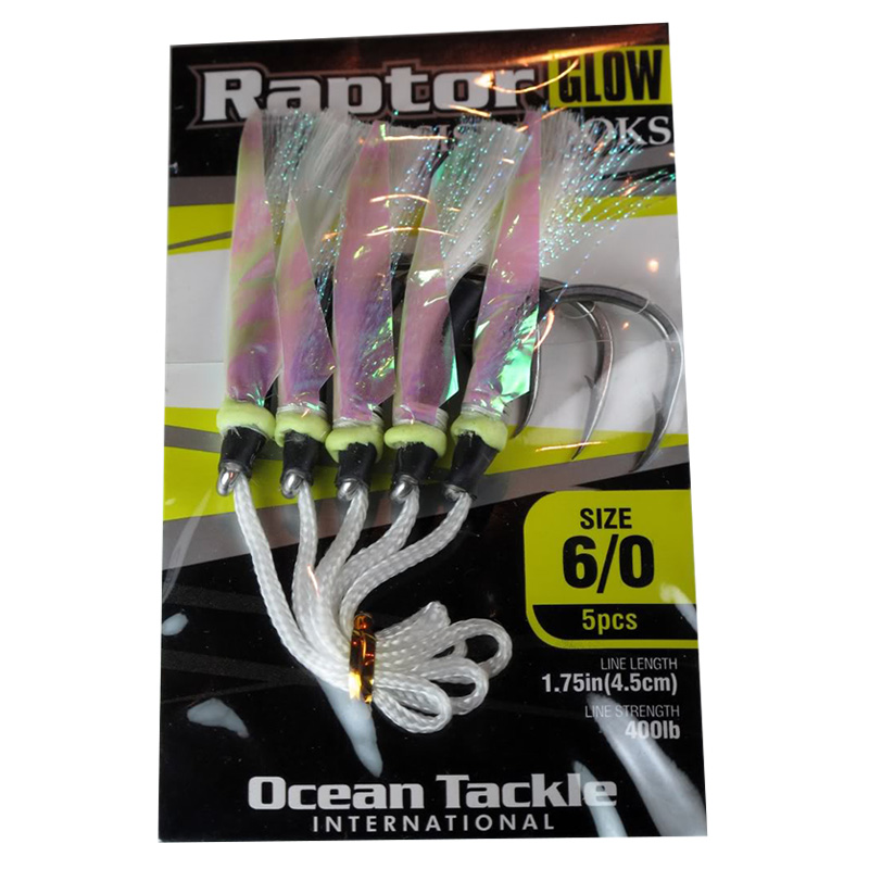 OTI Raptor Glow Assist Fishing Hooks