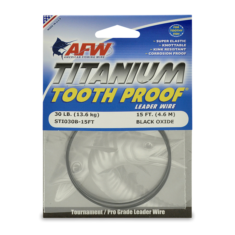 AFW Titanium Tooth Proof Single Strand Leader Wire 15'